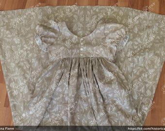 Regency dress. Сotton dress. Empire dress. Dress 1800s. Day dress