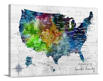 Us Map Etsy - Us map print