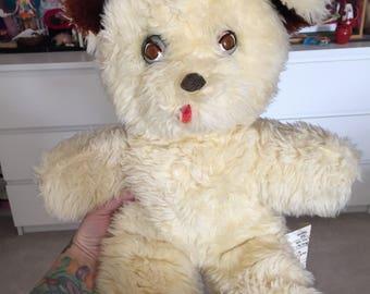 Vintage blinking teddy bear