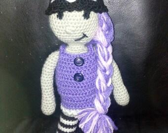 Hand-made crochet doll 30cm