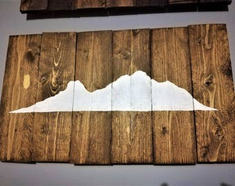 Reclaimed Wood Art 'Island'