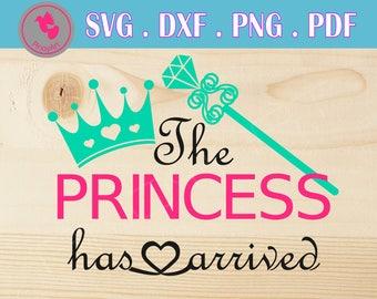 princess svg princess svg file princess svg files for cricut the princess has arrived svg princess dxf princess graphics svg files cut files