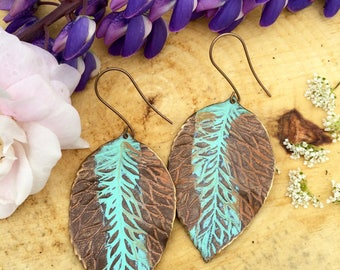 Hibiscus Leaf Dangle Earrings