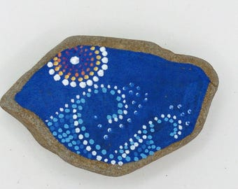 hand painted beach pebble
