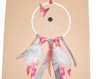 Small dream catcher gray and Red
