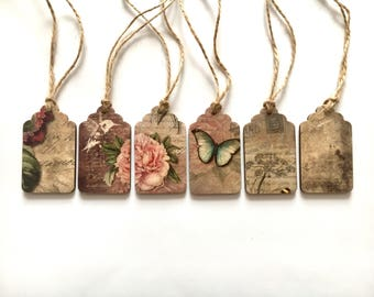 Gift tags, wooden gift tags , vintage tags, luggage tags,