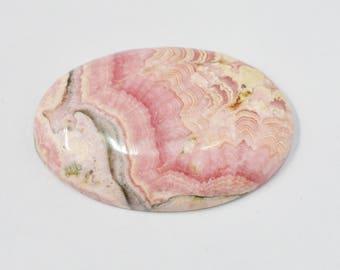 Rhodochrosite Oval cabochon - 89.40 carats - 27x42x7 mm - Oval Cabochon - Loose gemstone