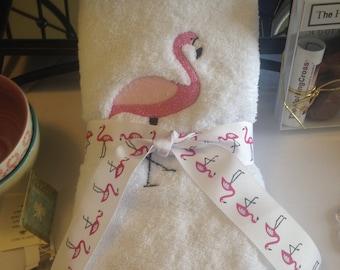 Luxury Flamingo Hand Towel Set (2)