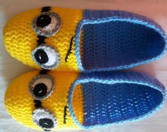 Cute handmade knitted slippers socks indoor slippers