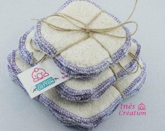"Make-up organic coton Washable Wipe Organic Cotton 4"" x 4"""