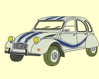 Embroidery design Citroen 2CV