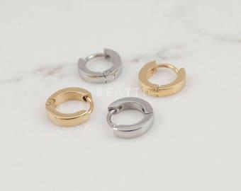 Tiny Cartilage Hoop, Tiny Hoop, huggie hoop, Small Hoop, Huggie Earring, steel huggie, mens earrings, mens huggie