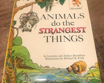 Hardcover 1964 Step Up Books Animals do the Strangest Things