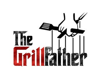 T-SHIRT: The Grill Father / Barbecue Mafia Style - Classic T-Shirt & Ladies Fitted Tee - (LazyCarrot)