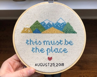 Custom Mountain Scene Complete Cross Stitch