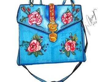 Gucci Handbag Print