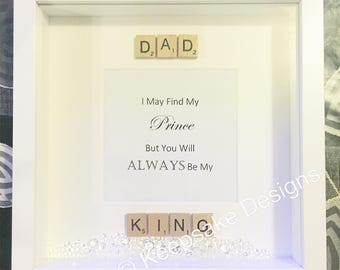 Fathers Day scrabble and print frame