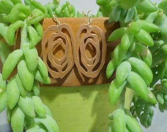 wood knot earrings