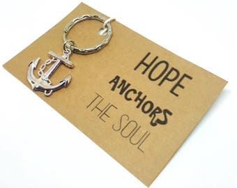 Hope Anchors The Soul Keyring
