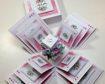 Flash Sale Exploding Wedding Keepsake Box ~ Small 3.5'' Square