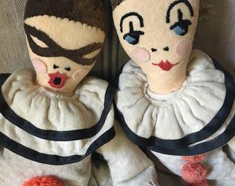 Vintage French Pierrot Dolls