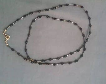 26 1/2 black beaded necklace