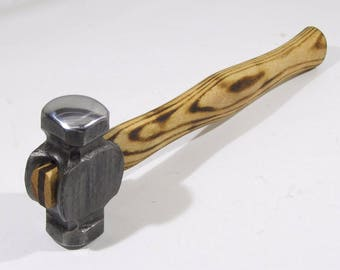 3 lb Blacksmith's rounding hammer, hand forged Bine Rovtar