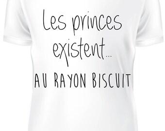 T-shirt blanc- les princes existent - B-WD-004