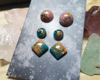 Resin Stud Earring Pack