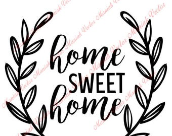 Home sweet home svg Etsy