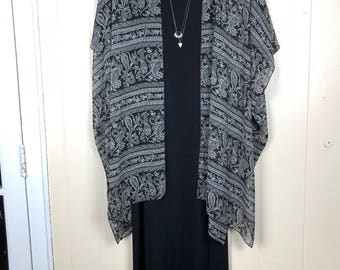 Vintage All That Jazz Black Maxi Dress Size Small 90's Boho Hippie Made in USA
