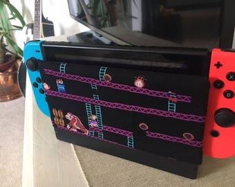 Donkey Kong Arcade -  Nintendo Switch Dock Cover/Dock Sock - Retro