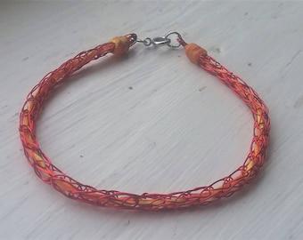 Fire Viking Knit Bracelet