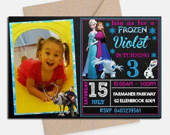 Frozen Invitation/ Frozen Birthday/ Frozen Birthday Invitation/ Frozen Party/ Frozen Invite/ Frozen Printable/ Frozen Birthday Party/ Frozen