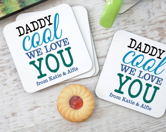 Personalised 'Daddy Cool' Coasters