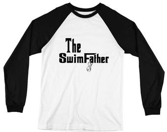 The SwimFather Long Sleeve Baseball T-Shirt