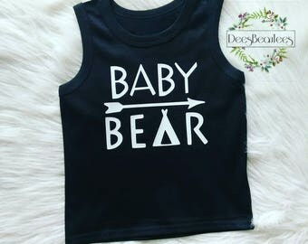 Baby bear tank top, baby bear shirt
