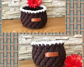 Brown Storage Basket Crochet