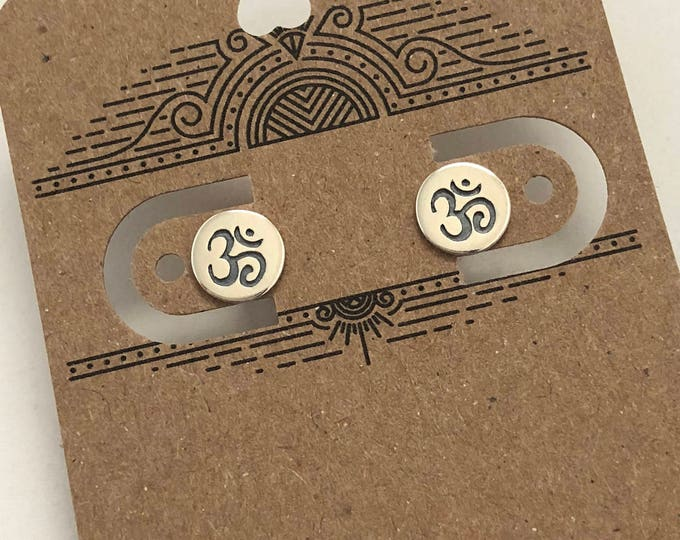 OM Symbol Post Earrings