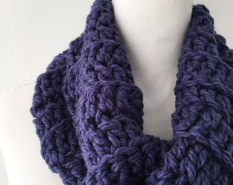 Royal Blue Chunky Ribbed Neck Cowl