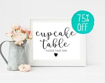 Cupcake Sign, Cupcake Table, Cupcake Wedding, Cupcake Toppers, Cupcake Stand, Cupcake Liners, Cupcake Boxes, Wedding Sign, Wedding Signs