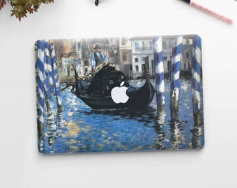 "Edouard Manet, ""The Blue Venice"". Macbook Pro 15 skin, Macbook Pro 13 skin, Macbook 12 skin. Macbook Pro skin. Macbook Air skin."