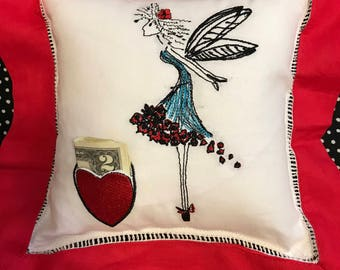 Tooth Fairy Pillow with Fairy