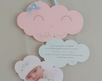 Share birth or baptism personalized - clouds - Mobile