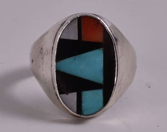 Excellent Native American Turquoise Ring Size 10.5