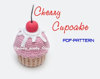 Cherry Cupcake Crochet Pattern