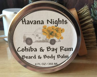 Cohiba & Bay Rum Beard Balm and Body Salve - Chesilhurst Farm