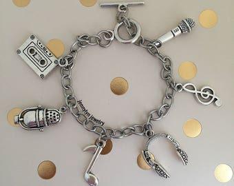 Music Charm Bracelet