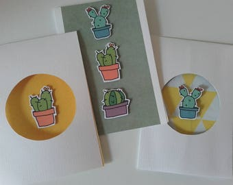 Set of 3 cactus