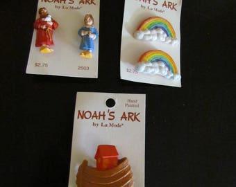 Noah's Ark Buttons  Set of 5